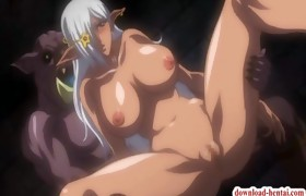 Innocent manga babe becomes a monster sex slave