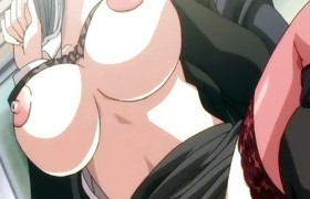 Hentai girl with nipp clamps gets drilled