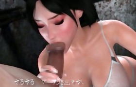 3D Sweetheart Sucks Massive Alien Cock!