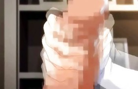 Hot anime chick getting cumshot
