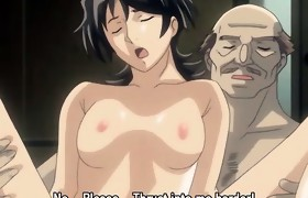 Fantastic brunette hair anime hottie gets part2