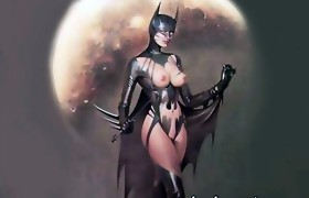 Dark knight Batman and Catwoman xxx parody
