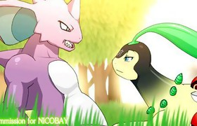 Bayleef And Nidoking Sex