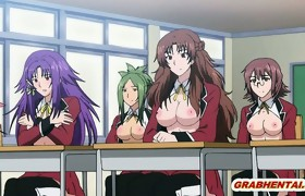 Preggo manga coeds groupsex lesson in the..