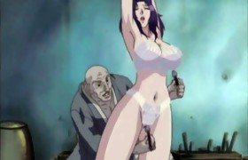 Bound up Japanese anime with bigboobs gets her..