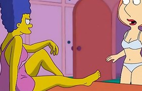 Lois Grfiffin and Marge Simpson Anime