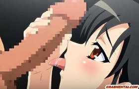 Japanese hentai hotty brutally gangbanged