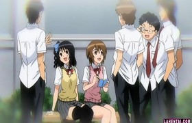 Hentai schoolgirl acquires fondled and drilled