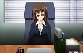 Giant titted hentai office slut receives drilled