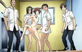 Teen manga chick acquires team-fucked outside