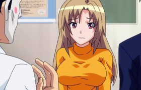 Anime babe receives her big pantoons fondled