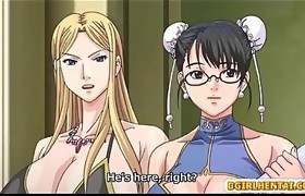 Bigboobs anime maids group-sex by her boss