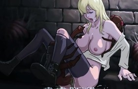 Manga Hawt Blonde Angel is Fucked by Monsters