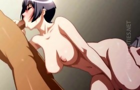 Brunette 3D anime slut engulf shlong