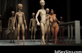 3D Playgirl Brutally Gangbanged by Aliens!