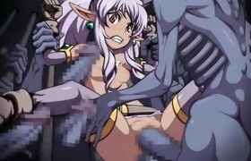 Ghetto hentai cutie hard gangbang by monsters